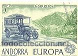 2AND-125U. ANDORRA USADO. EUROPA. COCHE CORREO (Sellos - España - Dependencias Postales - Andorra Española)