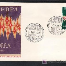 Sellos: ANDORRA ESPAÑOLA .72 PRIMER DIA, TEMA EUROPA 1972,. Lote 10562684