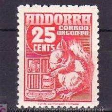 Sellos: .ANDORRA ESPAÑOLA .58 SIN CHARNELA, FAUNA, ARDILLA. Lote 11344223