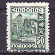 Sellos: .ANDORRA ESPAÑOLA .51 CON CHARNELA, ARQUITECTURA, IGLESIA DE ORDINO,. Lote 31168877