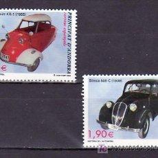 Sellos: .ANDORRA ESPAÑOLA 319/20 SIN CHARNELA, HISTORIA DEL AUTOMOVIL, . Lote 10786002