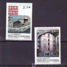 Sellos: .ANDORRA ESPAÑOLA 296/7 SIN CHARNELA, PATRIMONIO ARQUITECTONICO, . Lote 10786003