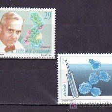 Sellos: .ANDORRA ESPAÑOLA 242/3 SIN CHARNELA, TEMA EUROPA 1994, DESCUBRIMIENTOS, MEDICINA, SIDA, . Lote 103847104