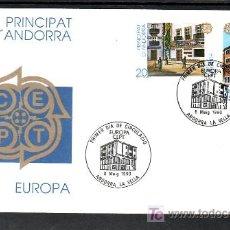 Sellos: .ANDORRA ESPAÑOLA 218/9 PRIMER DIA, TEMA EUROPA 1990, ARQUITECTURA, . Lote 9682016