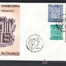 Sellos: .ANDORRA ESPAÑOLA 209/12 PRIMER DIA, ESCUDO DE ANDORRA, . Lote 10786011