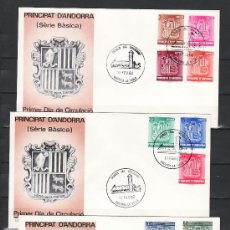 Sellos: .ANDORRA ESPAÑOLA 148/56 PRIMER DIA, ESCUDO DE ANDORRA, . Lote 9699726