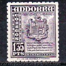 Sellos: .ANDORRA ESPAÑOLA .55 CON CHARNELA, ESCUDO DE ANDORRA,. Lote 9707901