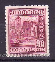 .ANDORRA ESPAÑOLA .53 CON CHARNELA, IGLESIA DE ORDINO, (Sellos - España - Dependencias Postales - Andorra Española)
