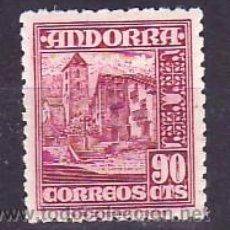 Sellos: .ANDORRA ESPAÑOLA .53 CON CHARNELA, IGLESIA DE ORDINO,. Lote 9707950
