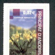 Sellos: ANDORRA ESPAÑOLA 2009. PATRIMONIO NATURAL. FLORES.. Lote 14566123