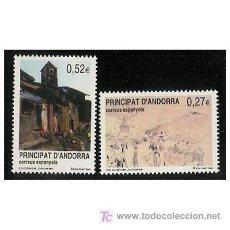 Sellos: ANDORRA ESPAÑOLA 2004 - PATRIMONIO CULTURAL DE ANDORRA - 2 SELLOS. Lote 15044605