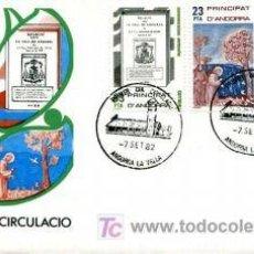 Sellos: INTERESANTE SPD ANDORRA ESPAÑOLA DE 1982 - CONMEMORACIONS CENTENARIES SERIE COMPLETA. S.F.C-43. Lote 18792411