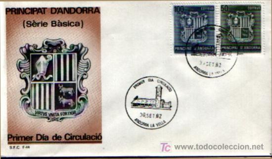 SPD ANDORRA ESPAÑOLA DE 1982 - SERIE BÁSICA. S.F.C-44 (Sellos - España - Dependencias Postales - Andorra Española)