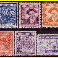 Sellos: ANDORRA 1948 TIPOS DIVERSOS Nº 45 A 58 *. Lote 18252628