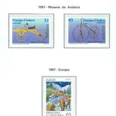 Sellos: ANDORRA. HOJA EDIFIL. AÑO 1997. CINCO SELLOS. Lote 26762171