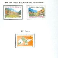 Sellos: ANDORRA. HOJA EDIFIL. AÑO 1995. CINCO SELLOS. .. Lote 26762173