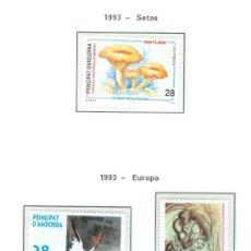 Sellos: ANDORRA. HOJA EDIFIL. AÑO 1993. CINCO SELLOS. . Lote 26762175