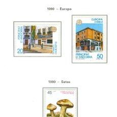 Sellos: ANDORRA. HOJA EDIFIL. AÑO 1990. CINCO SELLOS. BUENA CONSERVACIÓN.. Lote 26762178