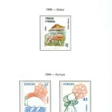Sellos: ANDORRA. HOJA EDIFIL. AÑO 1986. 5 SELLOS. Lote 26762183
