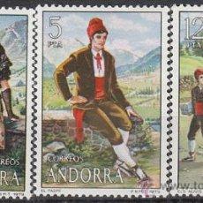Sellos: ANDORRA EDIFIL Nº 122/4. TRAJES POPULARES, NUEVO. Lote 151365078