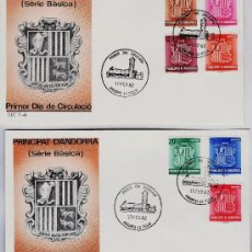Sellos: ANDORRA ESPAÑOLA.- CORREO ESPAÑOL .- SERIE BASICA - 2 S.P.D.- ED. SFC.- AÑO 1982. Lote 20274703