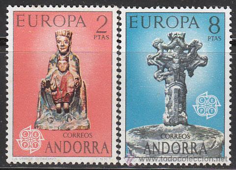 ANDORRA EDIFIL 89/90, EUROPA 1973 (VIRGEN DE ORDINO Y CRUS DE LOS SIETE BRAZOS), NUEVO (Sellos - España - Dependencias Postales - Andorra Española)