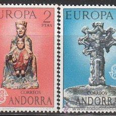 Sellos: ANDORRA EDIFIL 89/90, EUROPA 1973 (VIRGEN DE ORDINO Y CRUS DE LOS SIETE BRAZOS), NUEVO. Lote 258187730