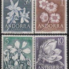 Sellos: ANDORRA EDIFIL Nº 068/71, FLORES DEL PRINCIPADO, NUEVO. Lote 258187650