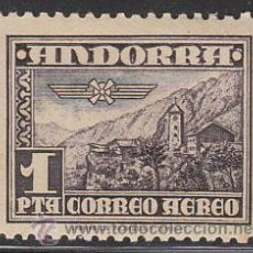 Sellos: ANDORRA EDIFIL Nº 059, AEREO, IGLESIA DE ANDORRA LA VIEJA, NUEVO CON MUY LIGERA SEÑAL DE CHARNELA. Lote 23793126