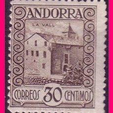 Sellos: ANDORRA 1929 PAISAJES DE ANDORRA, EDIFIL Nº 21 * DENTADO 14. Lote 20615669