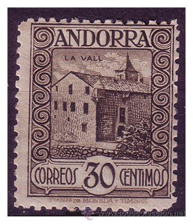 ANDORRA ESPAÑOLA 1929 PAISAJES DE ANDORRA EDIFIL Nº 21 * (Sellos - España - Dependencias Postales - Andorra Española)