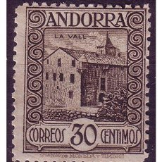 Sellos: ANDORRA ESPAÑOLA 1929 PAISAJES DE ANDORRA EDIFIL Nº 21 *. Lote 23154252