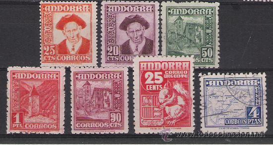 ANDORRA ESPAÑOLA SELLOS DE LA SERIE Nº 45/58 MAS DE 88 € DE CATALOGO (Sellos - España - Dependencias Postales - Andorra Española)