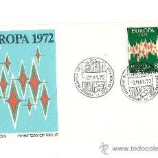 Sellos: ANDORRA 1972 ESPAÑOLA:EDIFIL Nº 72 TEMA EUROPA.SOBRE PRIMER DIA ALFIL.. Lote 27139858