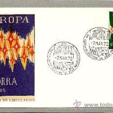 Sellos: ANDORRA 1972 SOBRE PRIMER DIA, TEMA EUROPA.. Lote 27406955