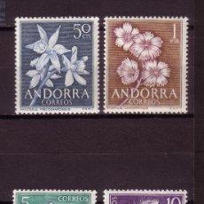 Sellos: ANDORRA 68/71** - AÑO 1966 - FLORA - FLORES DE ANDORRA. Lote 27465567