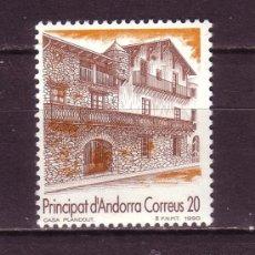 Sellos: ANDORRA 221*** - AÑO 1990 - TURISMO - CASA PLANDOLIT. Lote 28357859