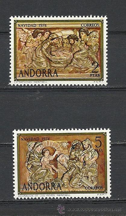 ANDORRA 1974, EDIFIL. Nº 94/95**, NAVIDAD (Sellos - España - Dependencias Postales - Andorra Española)