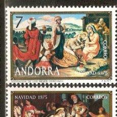 Sellos: ANDORRA 1975 NAVIDAD ** SERIE COMPLETA. Lote 106144796