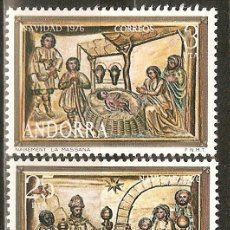 Sellos: ANDORRA 1976 NAVIDAD ** SERIE COMPLETA. Lote 106142078