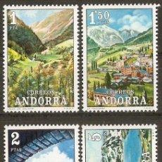 Sellos: ANDORRA ESPAÑOLA PAISAJES EDIFIL NUM. 73/76 ** SERIE COMPLETA SIN FIJASELLOS. Lote 101839231