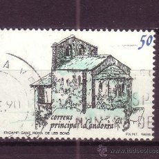 Sellos: ANDORRA 215 - AÑO 1989 - TURISMO - IGLESIA DE SANT ROMA DE LES BONS. Lote 34034808