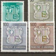 Sellos: ANDORRA EDIFIL NUM. 209/12 SERIE COMPLETA NUEVA SIN FIJASELLOS. Lote 101836650