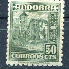 Sellos: ANDORRA. EDIFIL 51. 50 CTS TIPOS DIVERSOS. NUEVO CON FIJASELLOS.. Lote 36422617