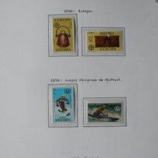 Sellos: ANDORRA ESPAÑOLA 1976 - AÑO COMPLETO 1976 - 6 SELLOS - REGALO HOJA DE 15 AGUJEROS Y FILOESTUCHES.. Lote 37412300