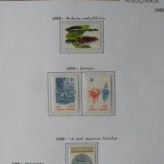 Sellos: SELLOS - ANDORRA ESPAÑOLA - AÑO COMPLETO 1988 - FALTA SERIE BÁSICA 209 A 212. Lote 37412672