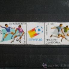 Sellos: SELLOS - ANDORRA ESPAÑOLA - EDIFIL 159/160 - MUNDIAL DE FUTBOL ESPAÑA 82. Lote 246174935