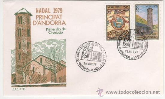 NAVIDAD.IGLESIA ROMÁNICA DE SANTA COLOMA.-1979 (Sellos - España - Dependencias Postales - Andorra Española)