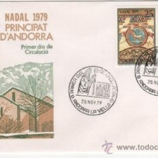 Sellos: NAVIDAD.IGLESIA ROMÁNICA DE SANTA COLOMA.-1979. Lote 37868724