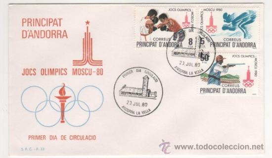 JUEGOS OLÍMPICOS DE MOSCÚ.-1980 (Sellos - España - Dependencias Postales - Andorra Española)